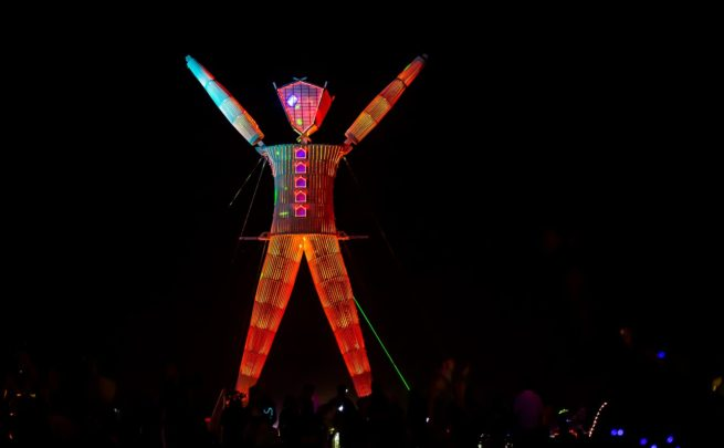 Book a private flight to Burning Man in Nevada!