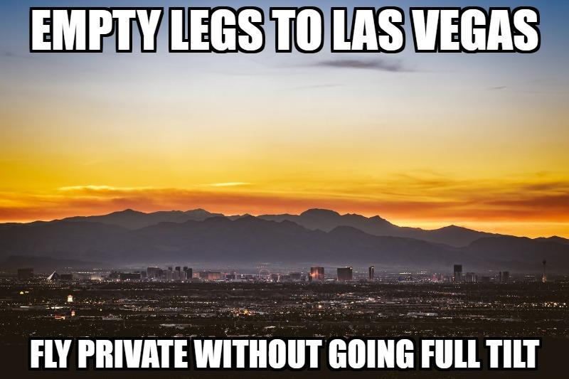 las vegas empty legs